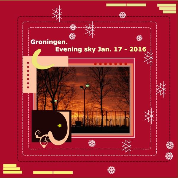 Jan. 17 -2016 - Evening sky