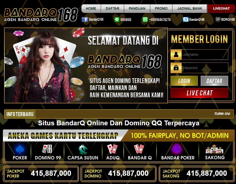 bandarq168 merupakan situs daftar link alternatif bandarq168 BandarQ yang paling populer dan paling aman di indonesia dengan server berkecepatan tinggi top pkv games