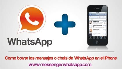 Como borrar los mensajes o chats de WhatsApp en el iPhone