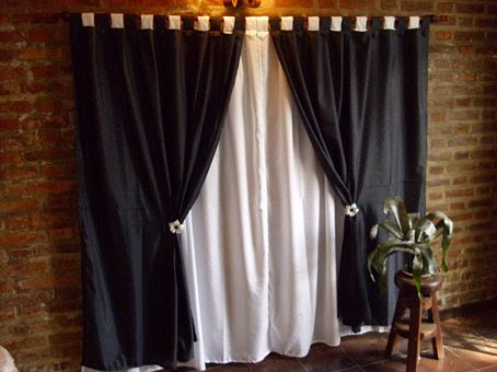 decoracion actual de moda cortinas negras en la decoraci n