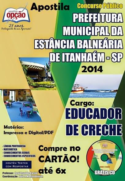 Apostila Educador de Creche Município de Itanhaém - SP Concurso 2014
