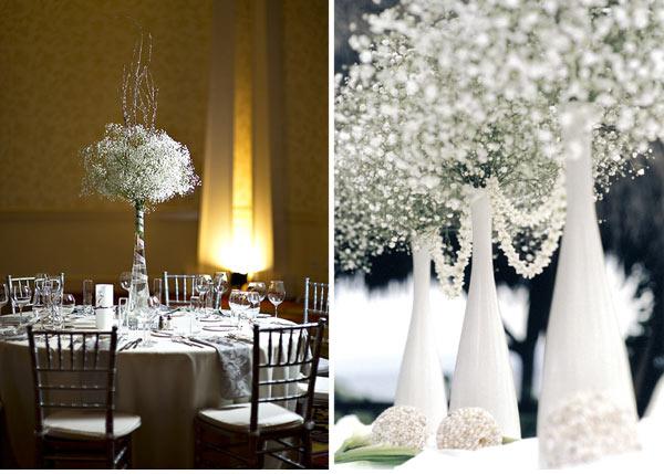 decoracao casamento gypsophila:Baby's Breath Centerpiece Wedding