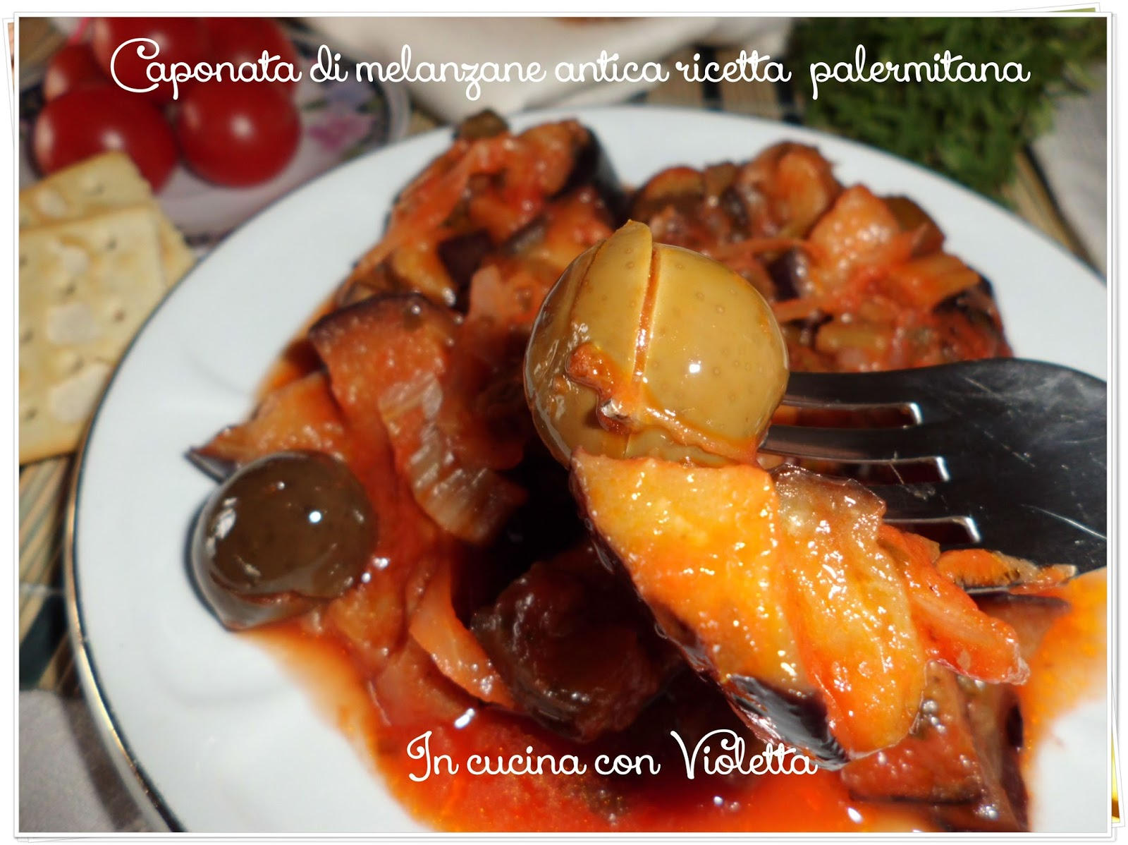 caponata di melanzane antica ricetta palermitana