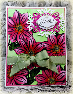Stamps - North Coast Creations Floral Sentiments, ODBD Ornate Borders & Flower Dies