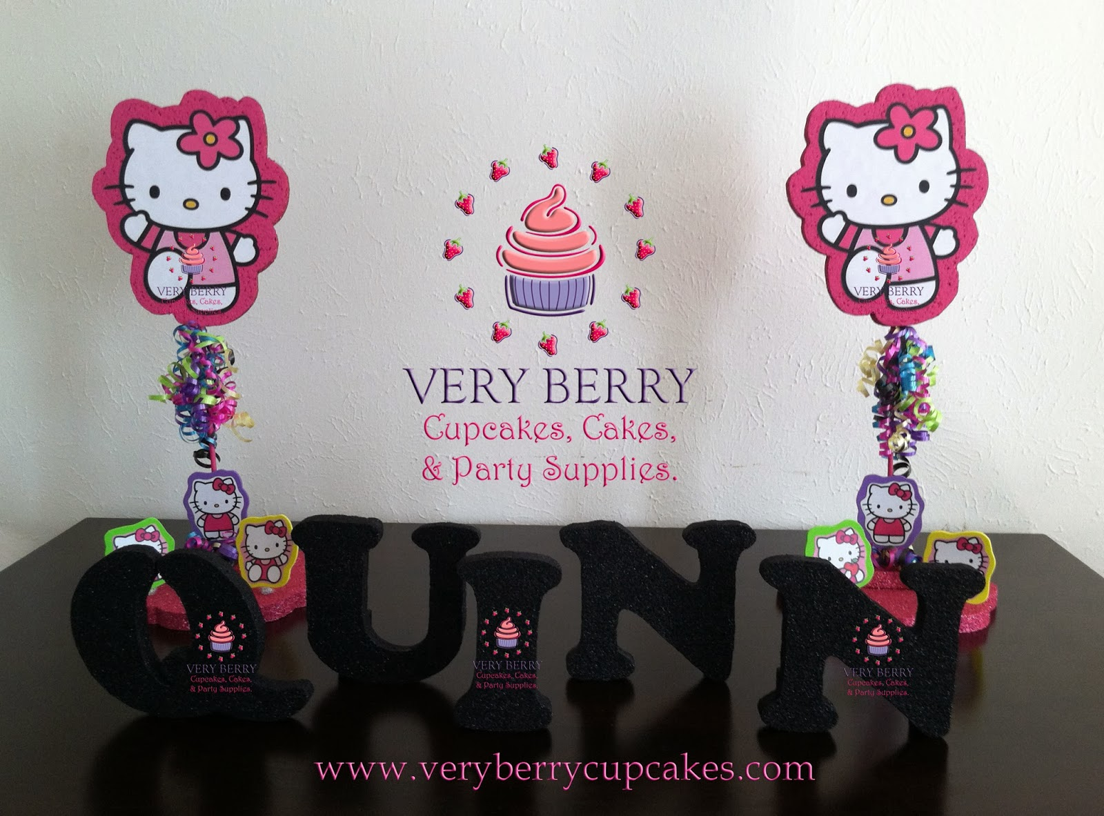 Veryberry Cupcakes Neon Hello Kitty Dessert Table Decoration