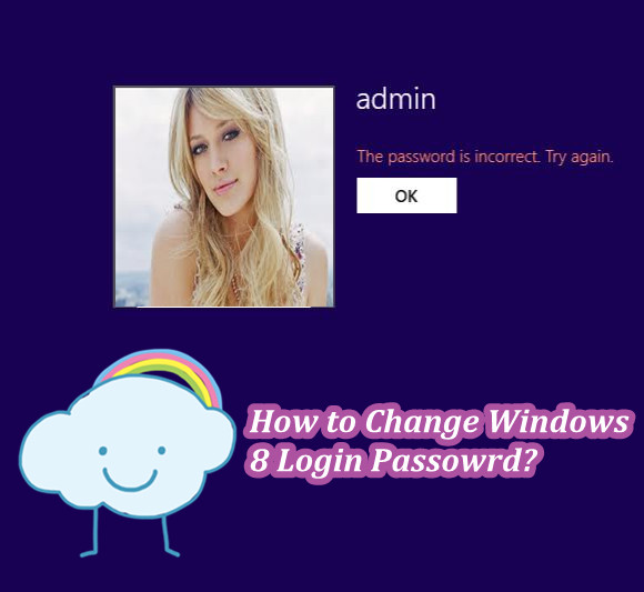 how to change the password in windows 8