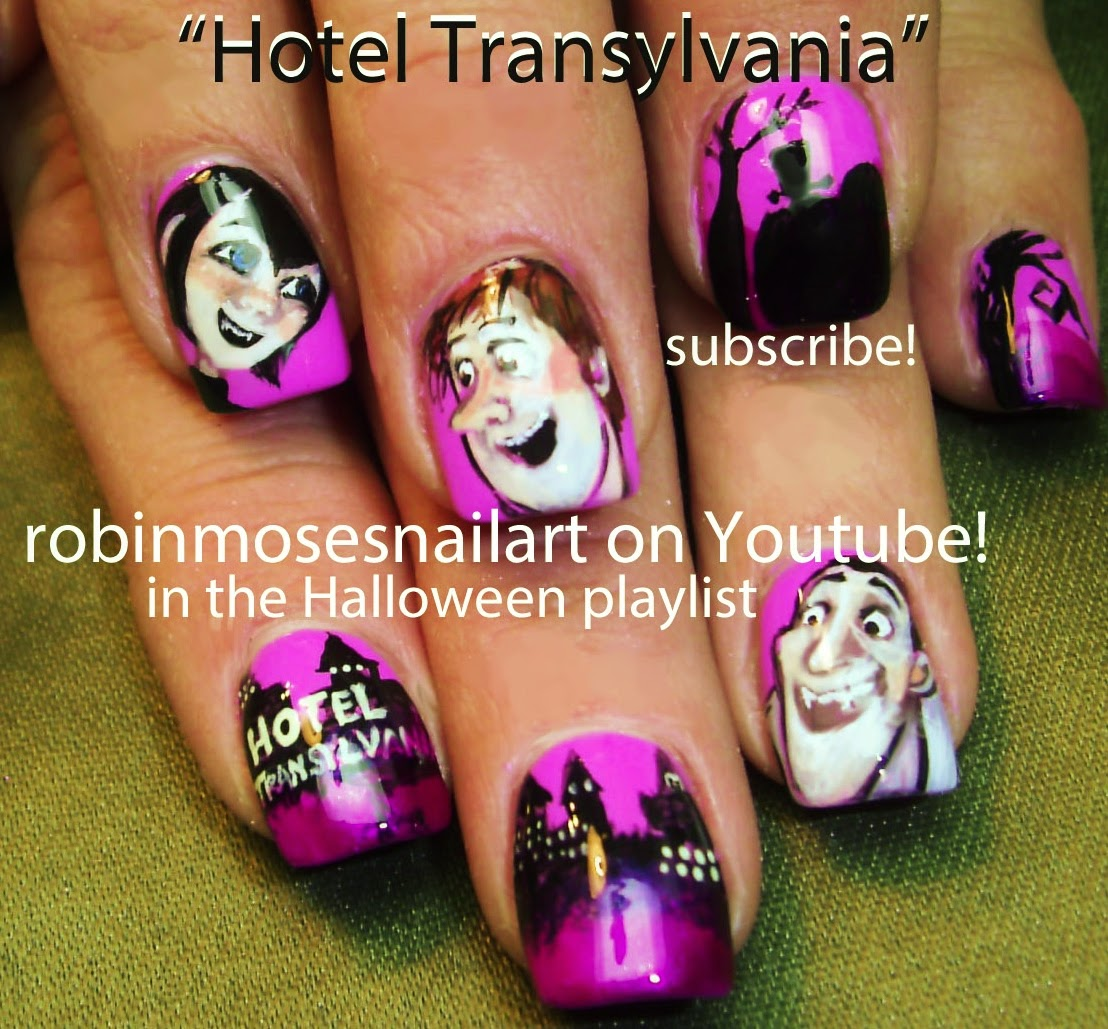 "Robin Moses Nail Art February 2015: Robin Moses Nail Art: ""halloween Nails"" ""cute Halloween"