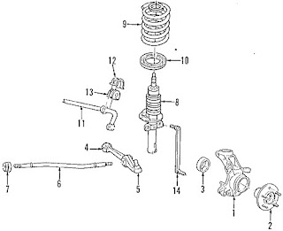 Parts Diagrams - Ford Winstar 2003 Lower Control Arm Suspension Diagrams