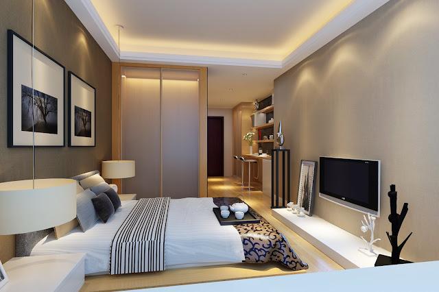 Mẫu trần thạch cao phòng ngủ chung cư hiện đại