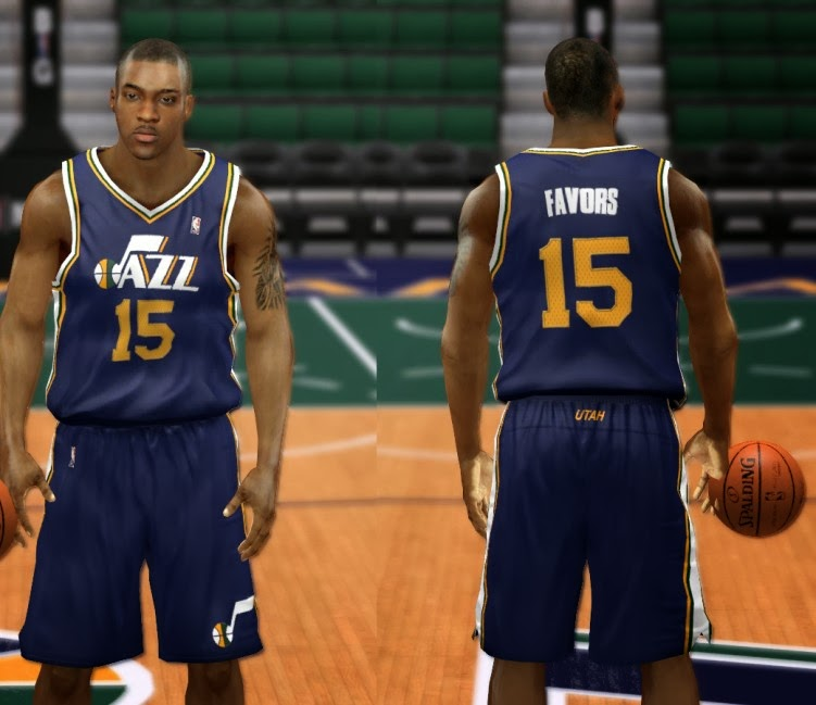 NBA 2K14 Utah Jazz Jersey Mod Pack