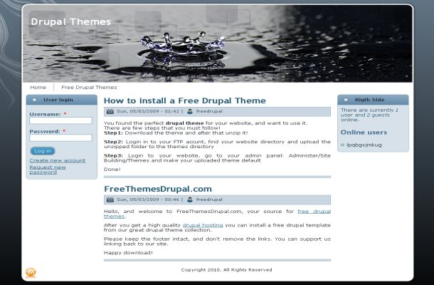 Free Drupal Black Grey Business Theme Template