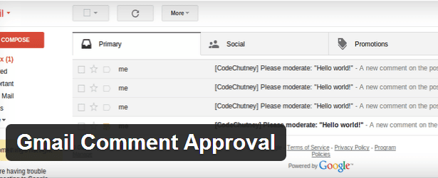 Gmail Comment Approval