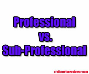Professional and Sub-Professional