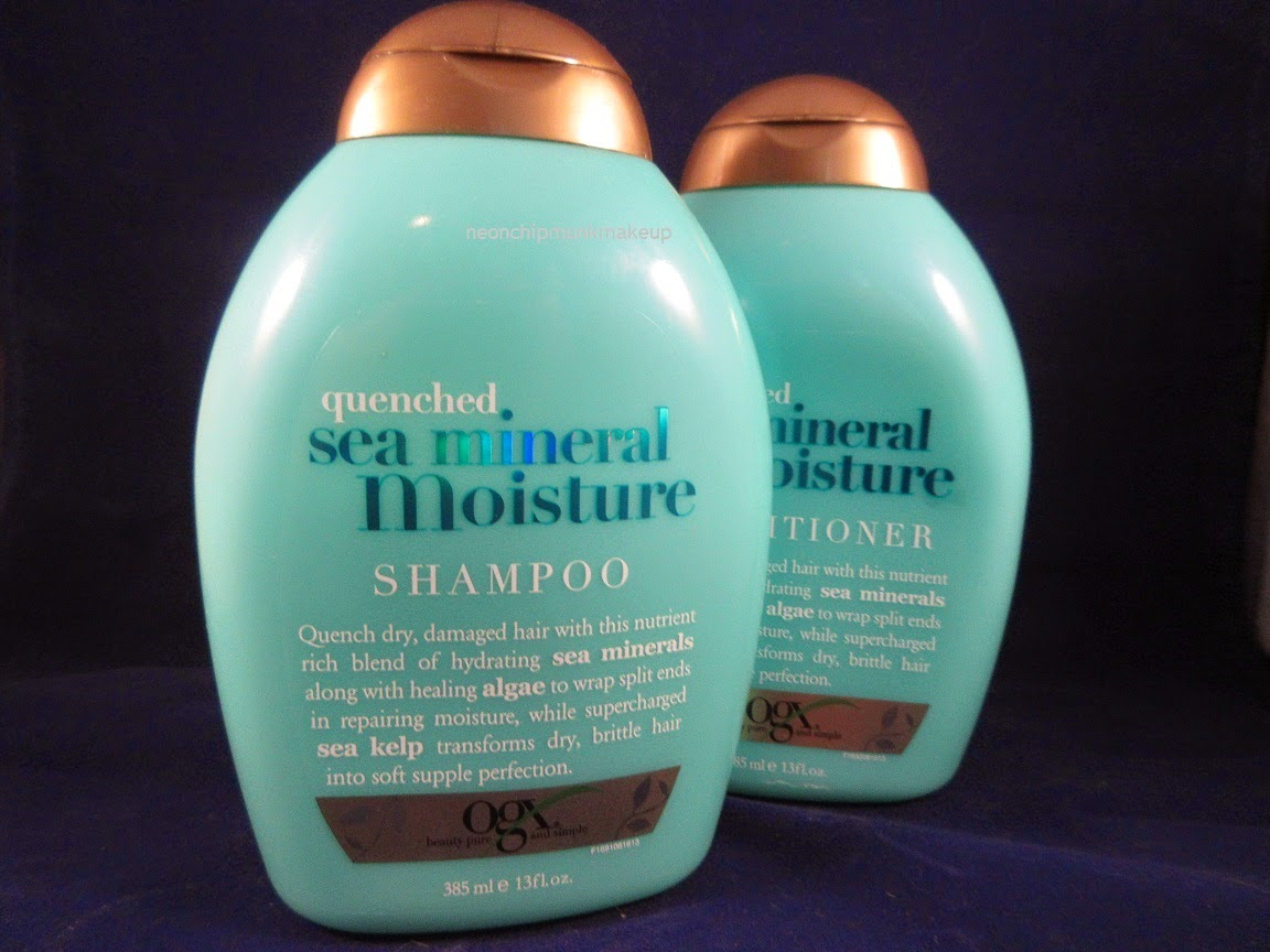 Organix Quenched Sea Mineral Moisture Shampoo Conditioner