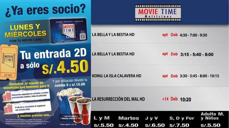 Cartelera Movietime Cañete Del 16 Al 22-03-2016.