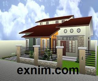 Contoh desain rumah minimalis modern standar