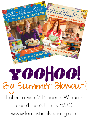 One winner - Two cookbooks! Enter for your chance to win! #giveaway #yoohoo #pioneerwoman #cookbook