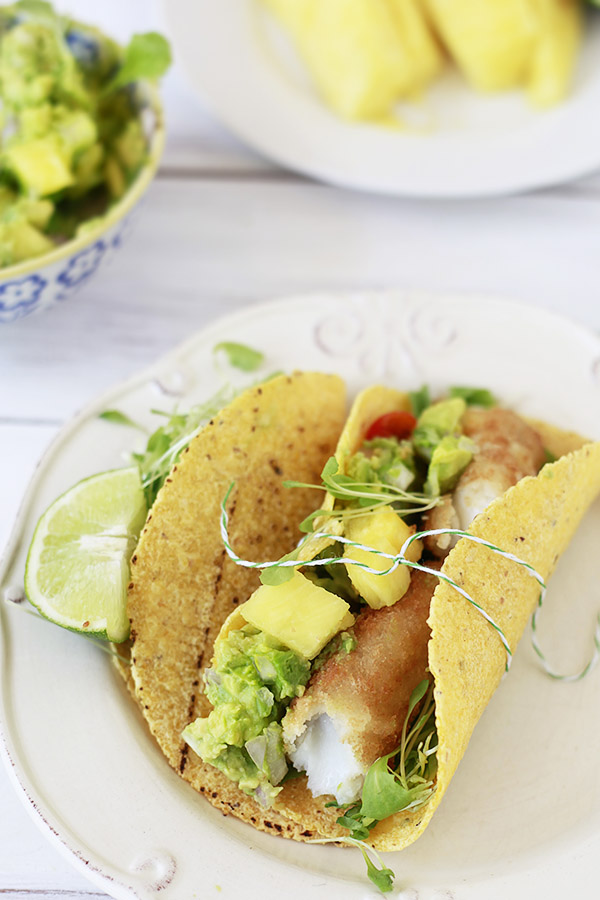 Easiest fish tacos pineapple guacamole and cinco de mayo for Fish tacos recipe easy