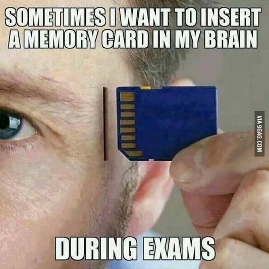 insert a memory card in my brain