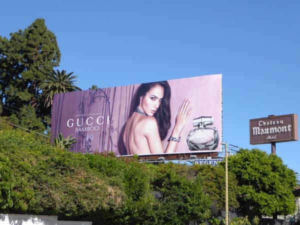 Gal Gadot Gucci Bamboo perfume billboard