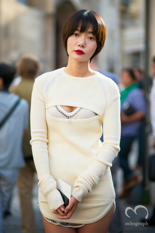 mitograph Doo Na Bae After Isabel Marant Paris Fashion Week 2014 Spring Summer PFW Street Style Shimpei Mito
