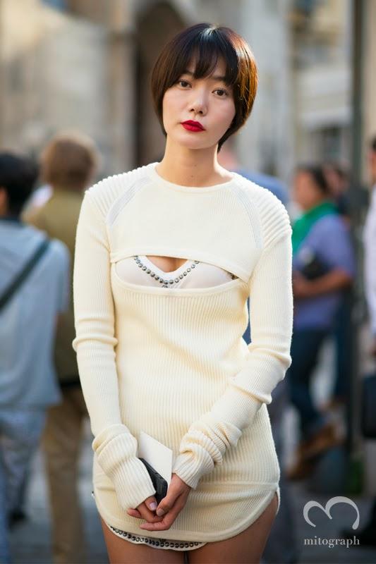 mitograph Doo Na Bae After Isabel Marant Paris Fashion Week 2014 Spring Summer PFW Street Style Shimpei Mito