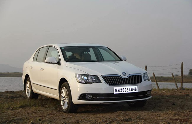 new car launches may 20142014 Skoda Superb facelift may launch at 2014 Indian Auto Expo