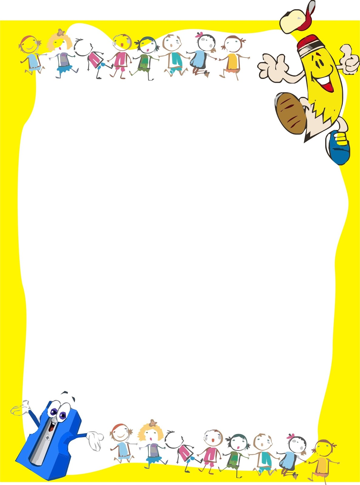 Dibujos de útiles escolares para pintar | Colorear imágenes