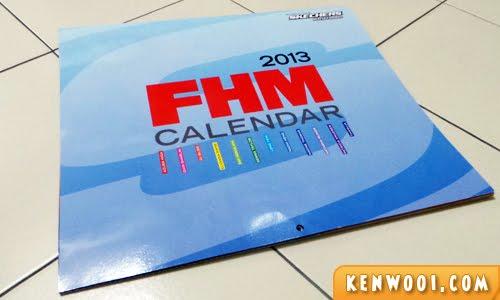 FHM calendar 2013