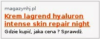 Krem lagrend hyaluron intense skin repair night