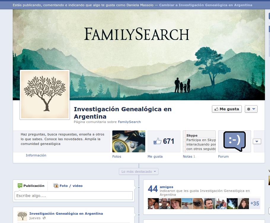 P ginas de investigaci n geneal gica de familysearch en for Paginas de chimentos argentina