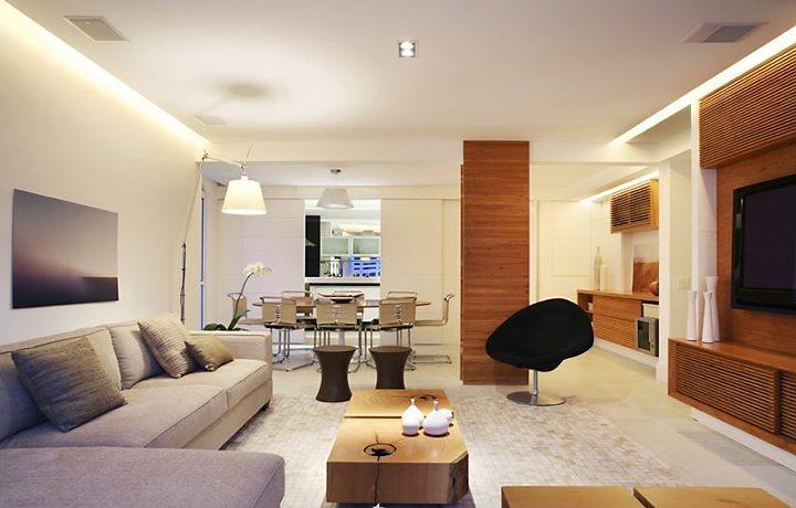 Sala De Estar Funcional ~ Construindo Minha Casa Clean Como Deve Ser Projetada a Iluminação