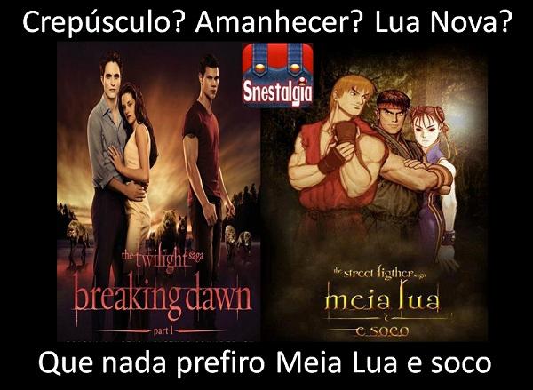 Street Fighter saga Meia Lua e Soco