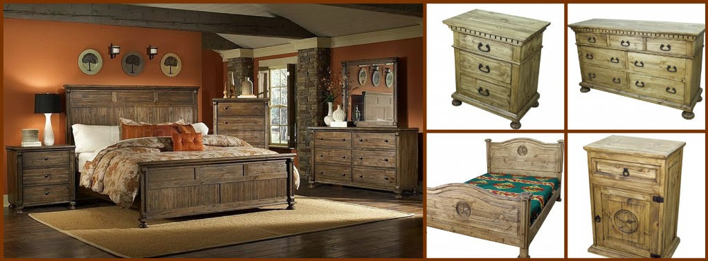 Rustic bedroom furniture by TRESAMIGOS