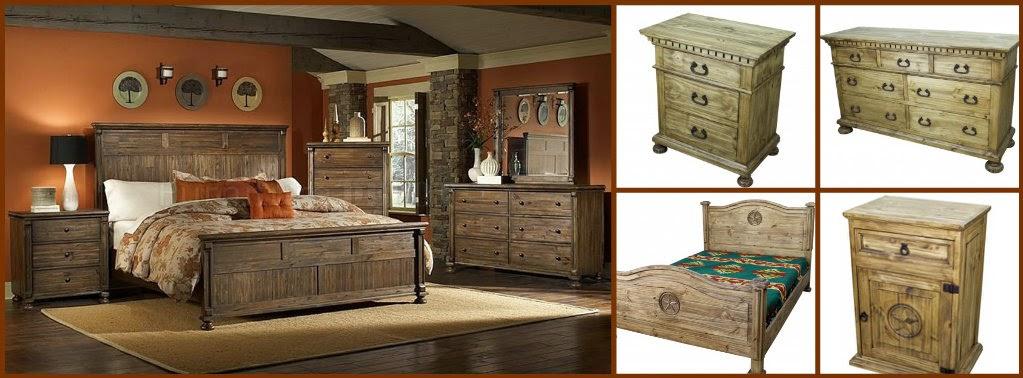 Rustic bedroom furniture by TRESAMIGOS