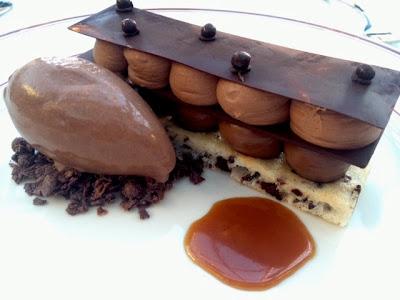 Le Diplomate dark chocolate napoleon