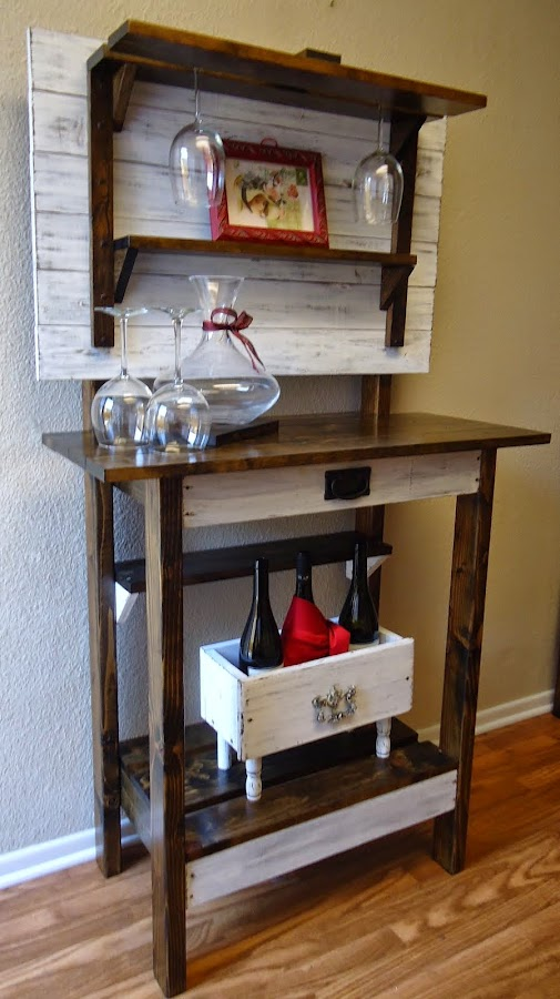 Distressed White Accent Table - SOLD