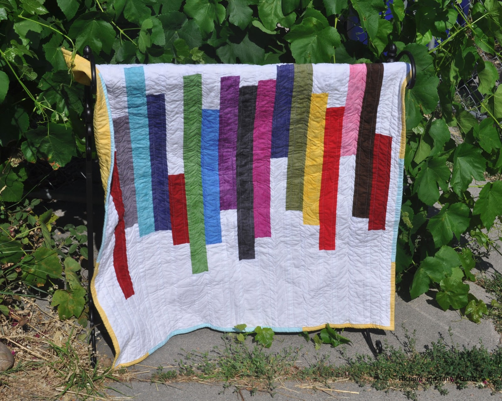 Richard and Tanya Quilts: Modern Take on Jelly Roll Race