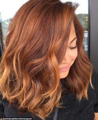 cabelos cor pumpkin spice
