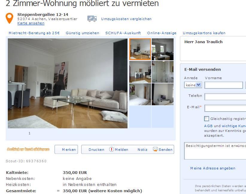 Aachen Wohnung  Zimmer
