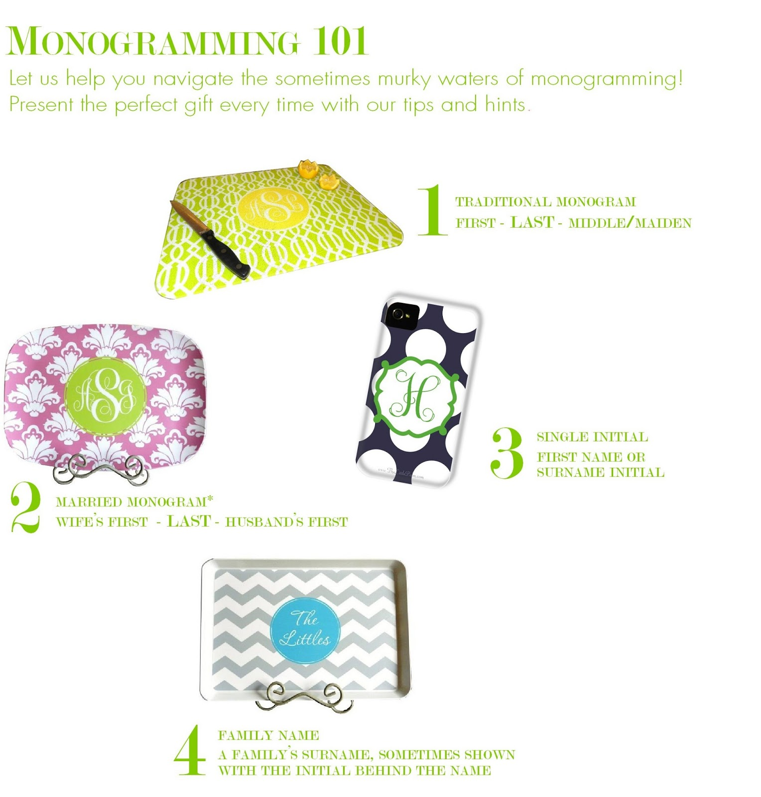 the little palm: the etiquette of monogramming
