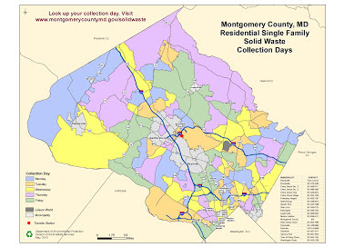 map of residential solid waste collection days