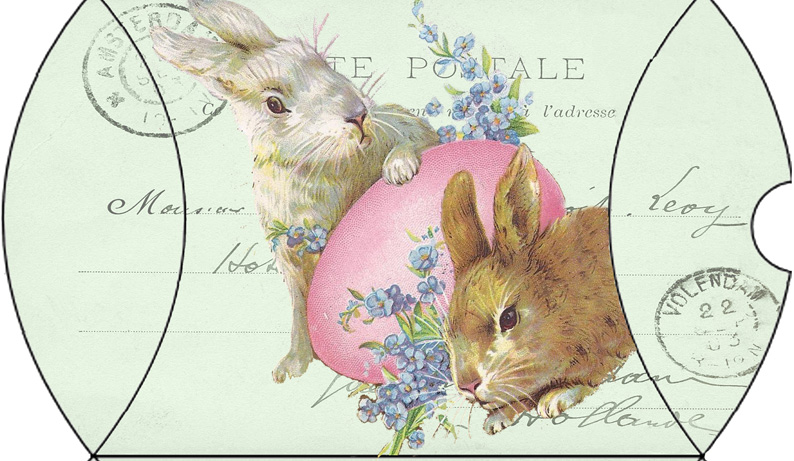 Wildheart friday freebie easter bunnies green pillow box friday freebie easter bunnies green pillow box negle Image collections