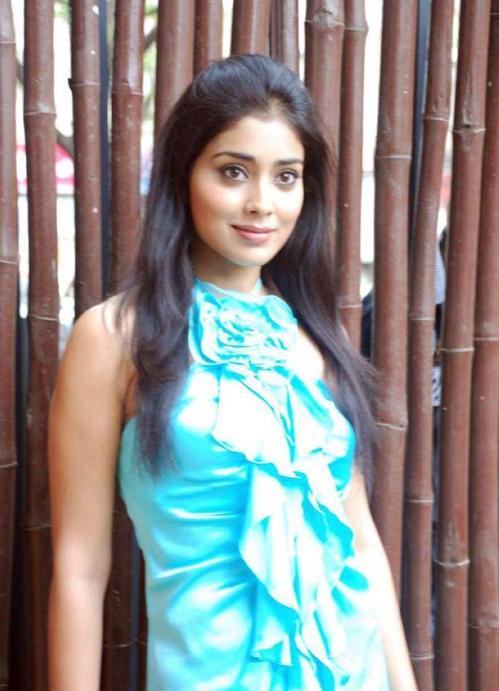 Shriya Saran1 - Shriya Saran in Sea Green Dress