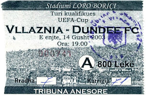Vllaznia v Dundee, Uefa Cup 2003 Match Report