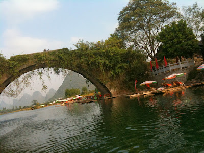 Aged Bridge, Yulong River, Yangshuo, China