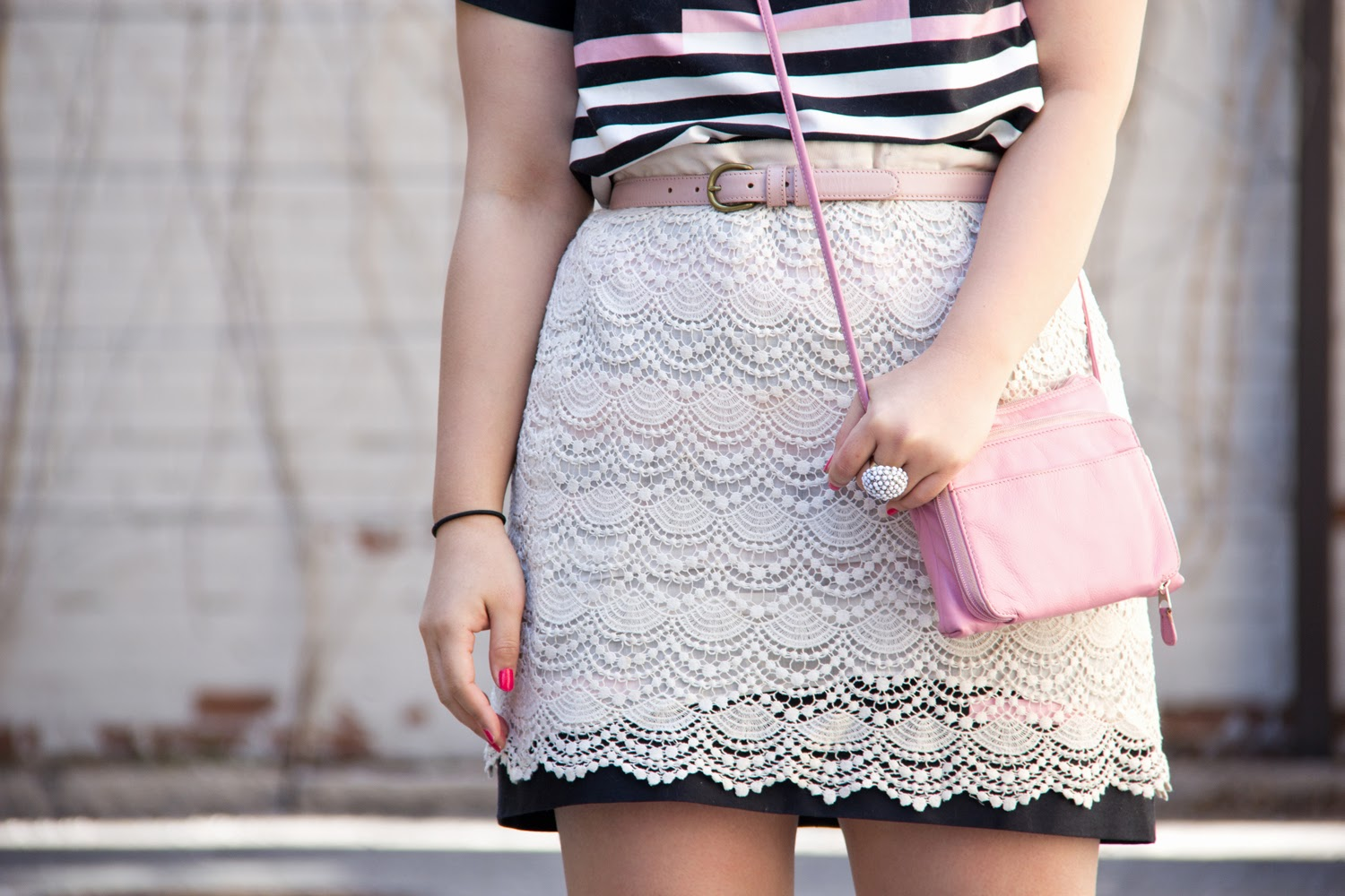 Skirt-over-dress, joe-fresh, club-monaco, white-lace, eclectic-stripe-dress, pastel-pink