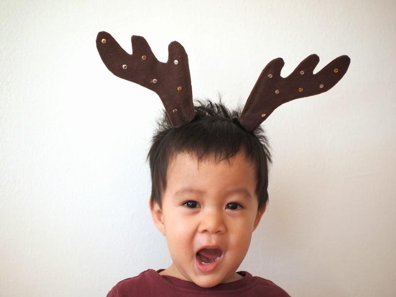 Diy Reindeer Antler Headbands Pink Stripey Socks