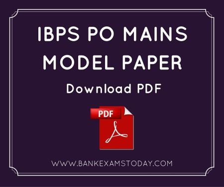 Ibps po mains model paper 2 bank exams today ibps po mains paper download model paper 2 altavistaventures Image collections