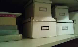 Craft closet organized